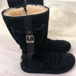 UGG Retro Cargo Buckle Classic Tall Black Boot